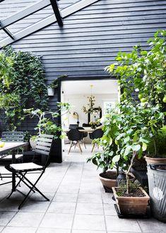 Livet leves året rundt i det smukke orangeri, der hænger naturligt sammen med resten af det fine træhus på naturgrunden i Hornsherred. Det og den elegante måde, som det kuperede landskab og boligen smelter sammen på, var blandt årsagerne til, at huset blev kåret som Danmarks Skønneste Hjem i 2012.