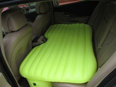 Inflatable mattress for your car...  I wish I had this for the many roads trips I've been on