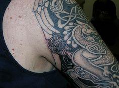 celtic animorph tattoo sleeve by jde75, via Flickr