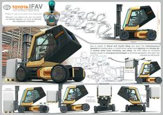 Project submitted on the 2016 Toyota logistic design competition and shortlisted among 565 participants. My goal was to reinvent the forklift so that the driver can better control his truck in difficult and dangerous situations thanks to innovative soluti…