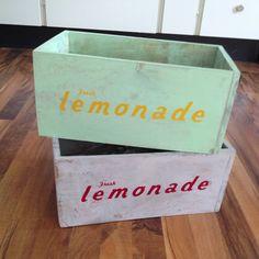 Wodden lemonade boxes