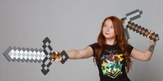 J!NX : Minecraft Foam Sword and Pickaxe Combo - Clothing Inspired by Video Games & Geek Culture