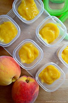 We're peachy keen about @KatiesCucina's Homemade Peach Puree Baby Food #FirstBites