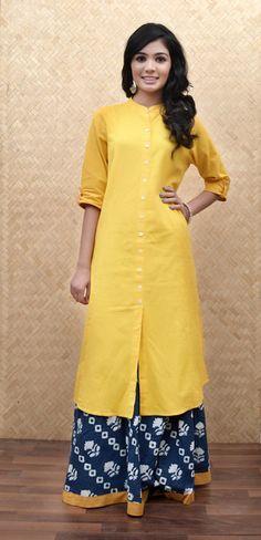 Summer Essentials:Yellow Khadi Kurta #Summer #OOTD #HandmadeWithLove