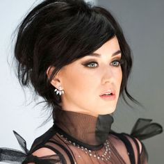 Katy Perry Wearing a Purple Braided Bun - Celebrities Female Katy Perry Fotos, Katy Perry Pictures, Cover Girl Makeup, Girls With Glasses, Pink Lips, Models, Covergirl, Sensual, Makeup Looks