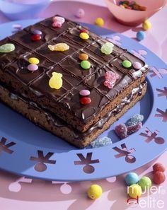 Tarta de chocolate para fiestas con niños