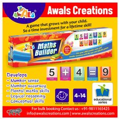 Let learning be fun! #Gift your child an efficient way of learning with our #educational games. Improves - grammatical, reading & conversation #skills mental #maths #ability #logical #reasoning #conceptual #skills  #educationalgames #learningmaterial #DIY #educationaltoys #toymanufacturers #indianmanufacturers #bulkorders #AwalsCreations