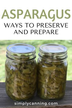 Asparagus - Ways to preserve and prepare - recipes included! Bread N Butter Pickle Recipe, Bread & Butter Pickles, Stewed Tomatoes, Canning Tomatoes, Canning Vegetables, Fresh Vegetables, Corn Cob Jelly, Easy Dinner Recipes, Easy Meals