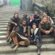 On set of King Arthur