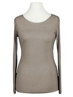 Damen Basic Langarm Shirt, braun von Esvivid   meinkleidchen Damenmode aus Italien Shirts & Tops, Basic Shirts, Arm, Blouse, Long Sleeve, Sleeves, Women, Fashion, Sequins
