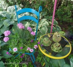 Chair Planter and Teacup Planters