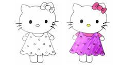 How to Draw Hello Kitty Step by Step for Kids Easy