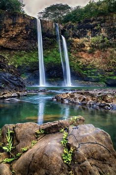 Must hike down to the falls! - great experience -,Waialua Falls, Kauai, Hawaii.