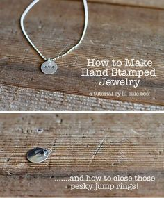 How to Make Hand Stamped Jewelry via lilblueboo with simple jump ring soldering technique