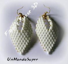 UnMondoSuper: Earrings Foglie Russe SD