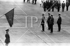 - President John F. Kennedy lands at Dublin Airport where he was was greeted by President Éamon de Valera and Taoiseach Seán Lemass. See more photos like this at www. Dublin Airport, John F Kennedy, History Photos, Photo Archive, Jfk, More Photos, Presidents, Ireland, Fine Art