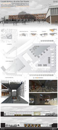 Panel Escuela Técnica y de Artes en San Vicente - Trabajo realizado para Arquitectura 4 junto a Nicolás Alvarez y Pablo Bonilla.