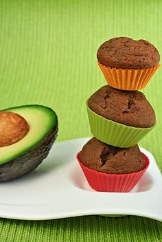 Chocolate Avocado Cupcakes--see the other one that is the avocado frosting!