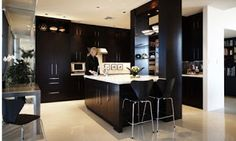 Dark Kitchen Cabinet Picture