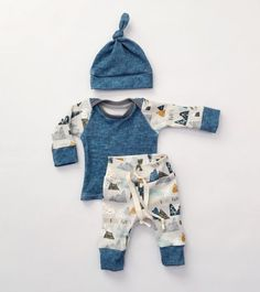This outfit includes a hat, pants and a shirt. It is made with 100% organic cotton knit fabric. The fabric itself is incredibly soft and so comfy! This style has a drawstring waistline. All seams have been serged for a professional finish and added durability. All material has been pre-washed to prevent any more shrinking.  Wash on gentle cycle using a phosphate free detergent (if possible) to help keep print bright. Tumble dry on low or lay flat to dry. Please note that each item is made to…