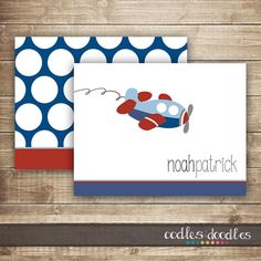 Personalized Airplane Stationary / Boy's Personalized by OandD
