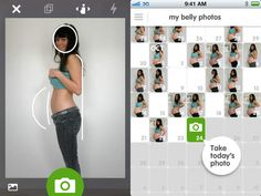 Make your own pregnant belly timelapse movie for free!