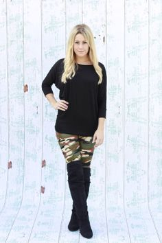 Dolman top in Black