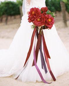 hana olu wedding red bouquet