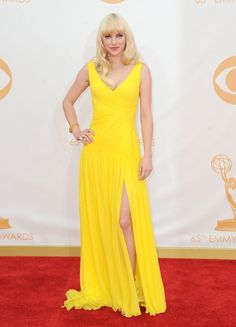 2013 Primetime Emmy Awards: Anna Faris. Do you like her dress? Find similar dresses at VogueSeason.com- For more amazing finds and inspiration visit us at http://www.brides-book.com