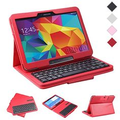 BMOUO Samsung Galaxy Tab 4 10.1 Keyboard Portfolio Case - Ultra-thin DETACHABLE Wireless Bluetooth Keyboard Stand Case for Samsung Galaxy Tab 4 10.1 Inch Tablet ,Red Color BMOUO http://www.amazon.com/dp/B00NKB0I8A/ref=cm_sw_r_pi_dp_3ciCub0MPJY9T