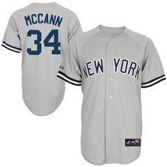 63e469bfe Majestic Brian McCann New York Yankees Gray Replica Player Jersey