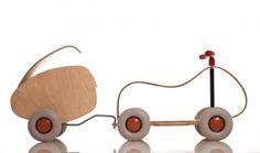 Sirch Max houten design loopauto - handgemaakt | olijkenvrolijk.nl