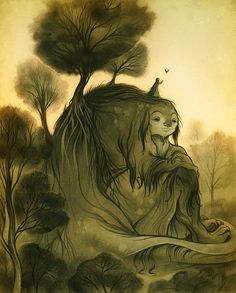 The Resting Hill by Cory Godbey.  Want! Reminds me of Charles Vess in a good, good way.