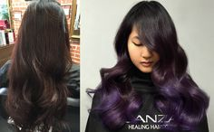 Stylist Hai Tran is at it again, this time giving his client a purple ombré using L'ANZA VIBES