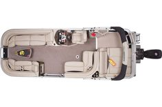 2014 Sun Tracker® Regency 254 XP3 - Top View w/Closed Compartments #features #SunTracker #pontoon http://www.exclusiveautomarine.com/product/party-barge-254-xp3