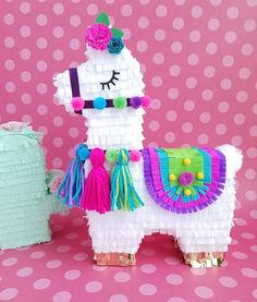 Bright girly colors for all your llama themed parties. Birthday Pinata, Llama Birthday, Birthday Party Decorations, Party Themes, Themed Parties, First Birthday Parties, First Birthdays, Birthday Gifts, Soirée Pyjama Party