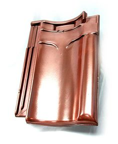 Roof tile covered with VeroMetal Copper