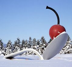 Claes Oldenburg. Spoon and cherry- have kids write a story based on this image.