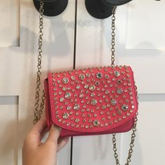 Juicy couture clutch Iridescent rhinestones w/ gold chain. Been used once or twice. Almost brand new condition! Juicy Couture Bags Clutches & Wristlets