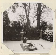 Garden in winter. Monk's House