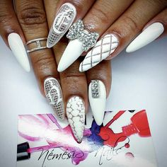 see what I mean these again, what the heck Im just no into this I guess. So, It's true, do you honestly like! Sexy Nails, Dope Nails, Bling Nails, Stiletto Nails, Fabulous Nails, Perfect Nails, French Nails Glitter, Chrom Nails, Sharp Nails