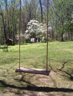 How to build a tree swing. This makes it look not that hard!