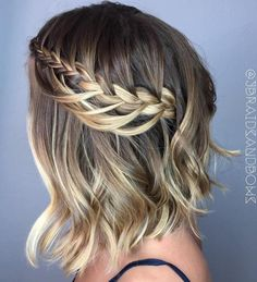 Prom hair styles are semi-formal to formal hairstyles that are appropriate for the occasion. Such hairstyles can be done on any hair length and texture. Now let's pick a hairstyle for prom that will flatter you perfectly. Prom Hairstyles For Short Hair, Braids For Short Hair, Prom Hair Updo, Short Hair Cuts, Braided Hairstyles, Bob Hairstyle, Hairstyle Ideas, Trendy Hairstyles, Braided Locs