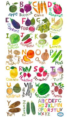 Fruit ABC by Tracey English