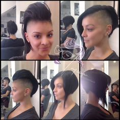 Original Pin: Might be how to get the puffy mohawk look but also be able to wear it down Undercut Hairstyles, Cool Hairstyles, Hairstyle Ideas, Party Hairstyle, Bangs Hairstyle, 3 Haircut, Curly Hair Styles, Natural Hair Styles, Shaved Hair