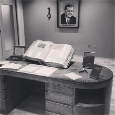 Jan. 11, 1946 - Bert Bell replaced Elmer Layden as #NFL Commissioner. On display is Bell's personal desk and other items from his office.