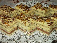 Rozi Erdélyi konyhája: Mákos krémes szelet Tiramisu, Ethnic Recipes, Food, Eten, Tiramisu Cake, Meals, Diet