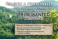 Would you and a friend like to be one of the 'first-footers' at the launch party and opening week of Tribewanted Monestevole? Si! How can I do that?  1. If you haven't already, become a founding member of Tribewanted 2. to join the tribe. The top 10 referrers for the month of February will receive a free invite f...