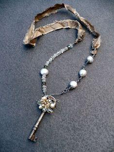 By livewirejewelrysb on Etsy. # textile jewelry #livewirejewelrysb