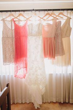 Gorgeous array of bridal party dresses